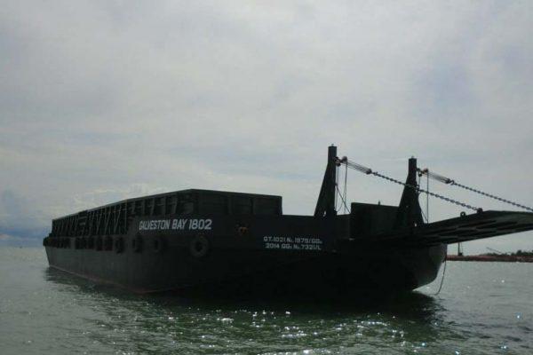 Deck Cargo Barge Galveston Bay 1802